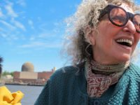 Nina Resnick on the Clearwater Sloop