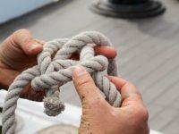 Bowline knot for or Oyster Restoration Station
