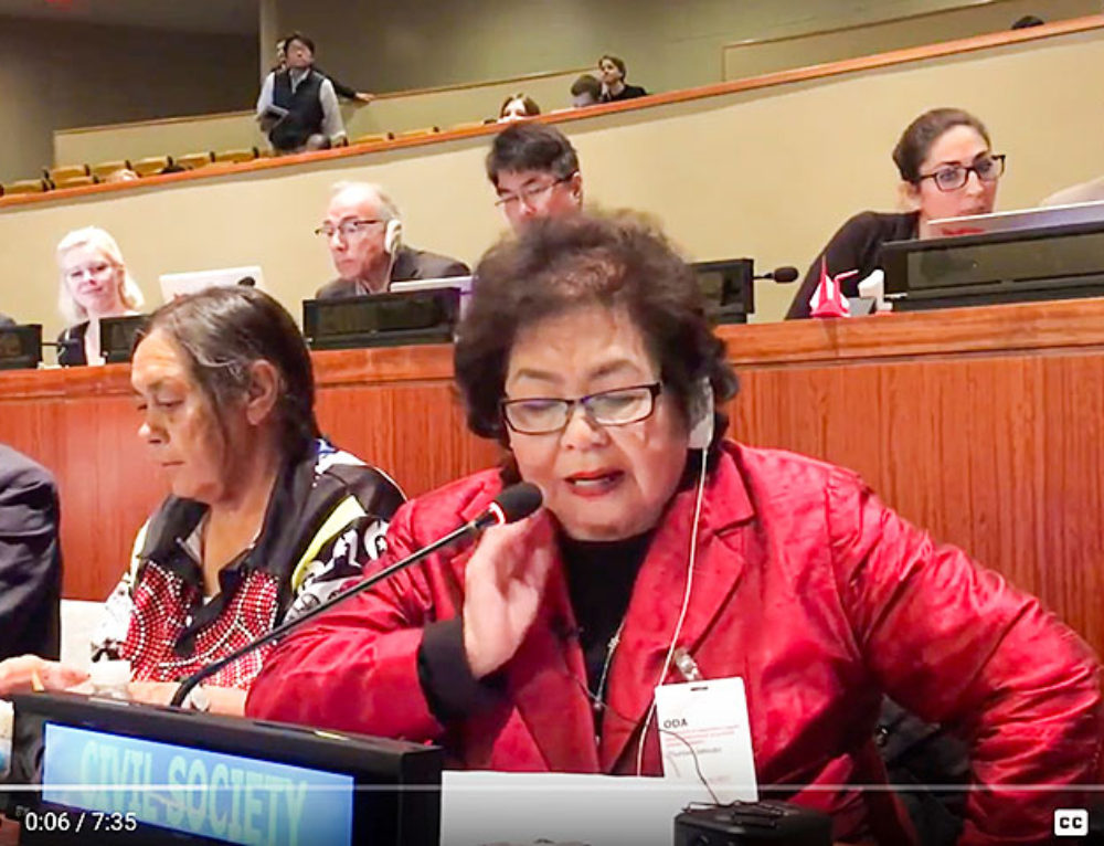 Setsuko Thurlow Speaks At the UN